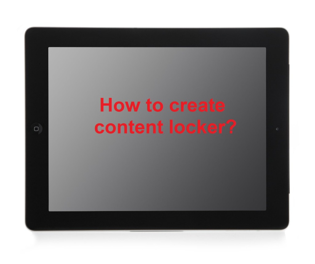 How to create content locker