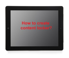 How to create content locker popup