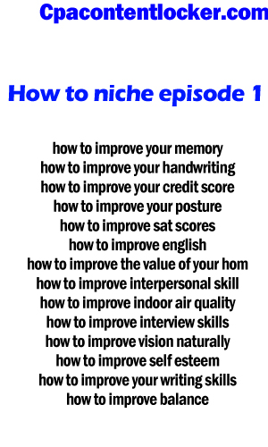 How to niche ep -1