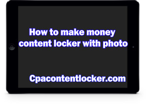 Content locker with stock photo