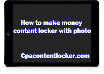 How to make money content locker free stock image site