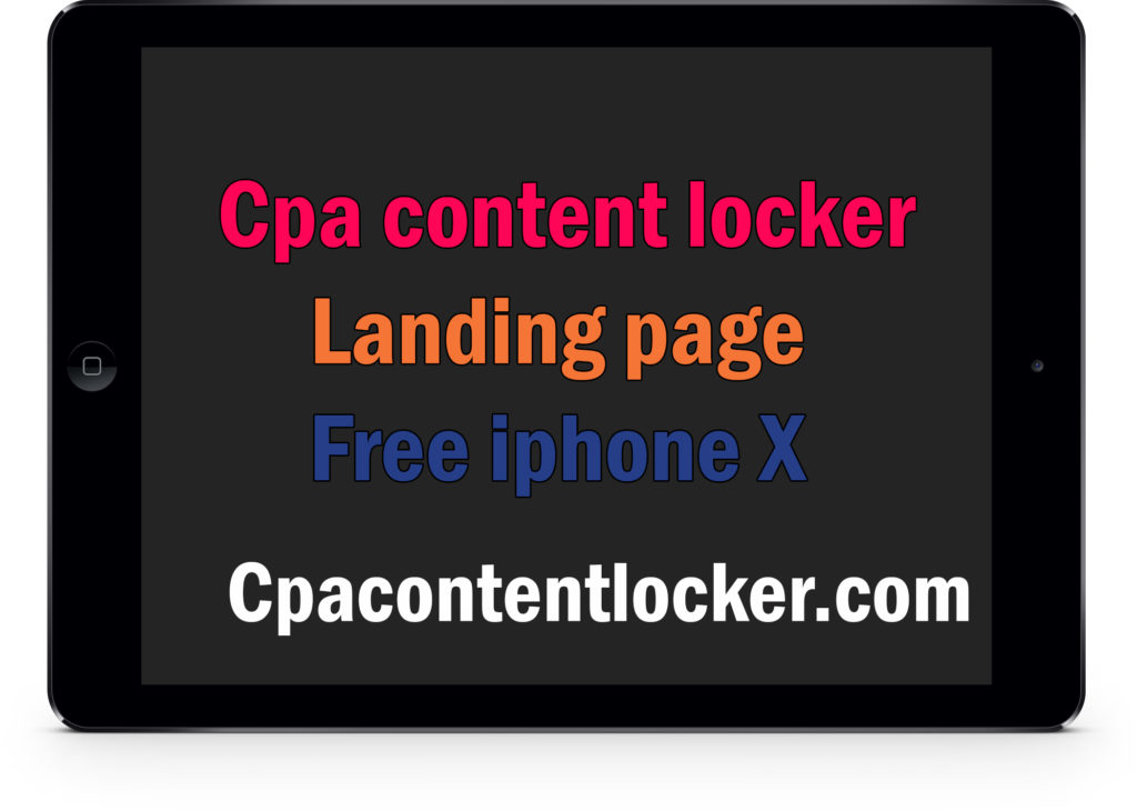 Cpa script file (Free iphone X landing page) – Make money